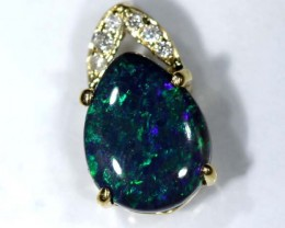 BLACK OPAL 18K GOLD  PENDANT  3.15 CTS     OF-607