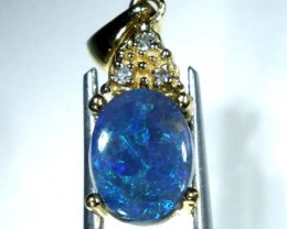 BLACK OPAL 18K GOLD  PENDANT 7.70  CTS     OF-609