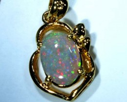 BLACK OPAL 18K GOLD PENDANT  6.85 CTS     OF-637