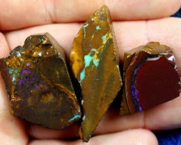 145.45 CTS 3 PIECE YOWAH OPAL RUBS PRE SHAPPED FOR EASY CUTTING