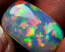 GORGEUS COLLECTOR ITEM BRILIANT PLUME 3D RAINBOW OPAL 4.40 CTS