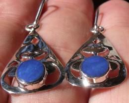 Doublet opal gem & silver fashion earrings jewelry AD22