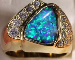 BOULDER OPAL 18K GOLD RING  84.0 CTS JJ JEW-3