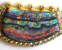 QUALITY BLACK OPAL RAINBOW 18K GOLD diamond  NECKLACE 187.5 CTS-valuation f