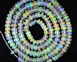 27.58 Cts Natural Ethiopian Color Play Opal Beads - NR Auction