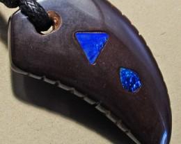 31.98 CTS Inlaid Boulder Opal Pendant MMR 1896