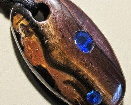 67.46 CTS Inlaid Boulder Opal Pendant MMR 1909