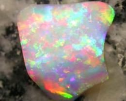 5.95ct EXTR BRIGHT DOUBLE SIDED MULTI PATERN RAINBOW COLORS OPAL