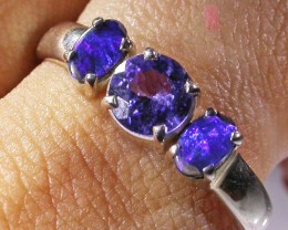 9  RING SIZE TANZANITE DOUBLET OPAL RING [SOJ4257]