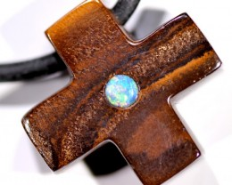 OPAL INLAY NECKLACE  26  CTS  LO-1130