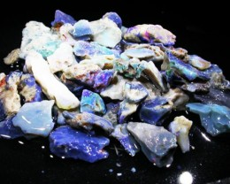 260 CTS TUMBLED BLACK OPAL ROUGH PARCEL -LIGHTNING RIDGE [BR3054]