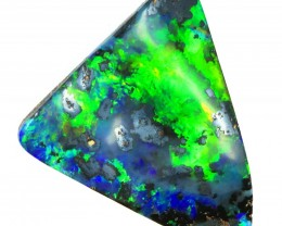 ELECTRIC GREEN OLIVE  BOULDER  OPAL 9.75  CTS  MM 1879