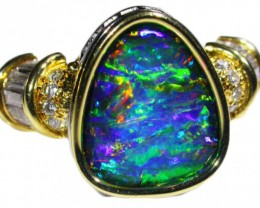 """CERTIFIED"" 18 Kt GOLD OPAL RING FROM QUILPIE OPAL COLLECTION NO"