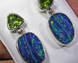 GEM OPAL DOUBLET WITH PERIDOT [SOJ4530]