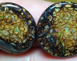 BARGAIN BUY IT NOW Boulder Opal Pair AA3 30cts