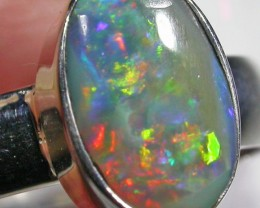 7 RING SIZE SOLID CRYSTAL OPAL -FACTORY DIRECT [SOJ4599]SH