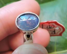 Aussie Opal Triplet  in silver Ring PL 1365