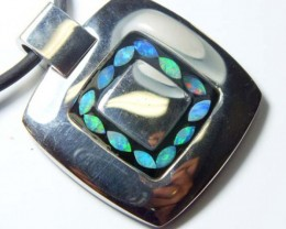 OPAL INLAY NECKLACE 82.5 CTS  LO-1207
