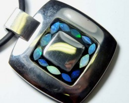 OPAL INLAY NECKLACE  80  CTS  LO-1209
