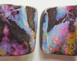 Boulder Opal Polished GEM COLOR 2 pieces  42.30carats