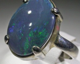 RING SIZE 9.5LARGE  SOLID OPAL FACTORY DIRECT [SOJ4719]SH