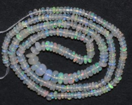 26.20 Ct Natural Ethiopian Welo Opal Beads Play Of Color