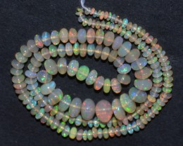 40.50 Ct Natural Ethiopian Welo Opal Beads Play Of Color