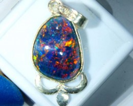 TRIPLET OPAL PENDANT SILVER 13.50  CTS OF-677