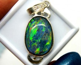TRIPLET OPAL PENDANT SILVER 15.30  CTS OF-679