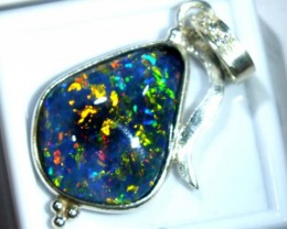 TRIPLET OPAL PENDANT SILVER 17.30  CTS OF-680