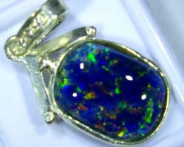 TRIPLET OPAL PENDANT SILVER 14.20  CTS OF-682