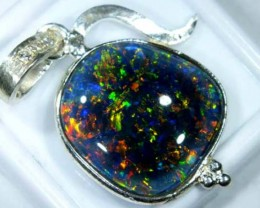 TRIPLET OPAL PENDANT SILVER 18.55  CTS OF-683