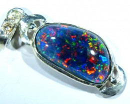 TRIPLET OPAL PENDANT SILVER 13.45  CTS OF-696