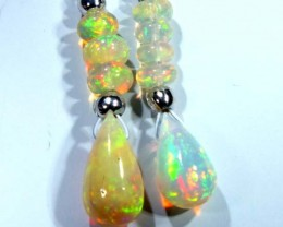ETHIOPIAN OPAL  SIVER EARRINGS 7.10CTS   OF-703