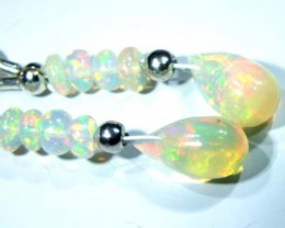 ETHIOPIAN OPAL  SIVER EARRINGS 6.55 CTS   OF-723