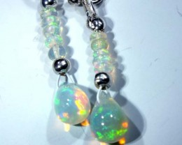 ETHIOPIAN OPAL  SIVER EARRINGS 5.95CTS   OF-726