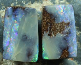 25.80 CTS BOULDER OPAL PAIRS FOR EARRINGS/CUFFLINKS