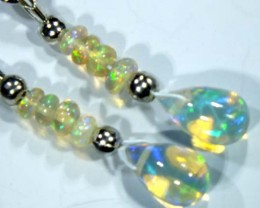ETHIOPIAN OPAL  SIVER EARRINGS  6.10 CTS   OF-748