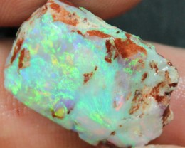 15.65 CTS BLACK OPAL ROUGH/ RUB FOR CUTTING ELECTRIC