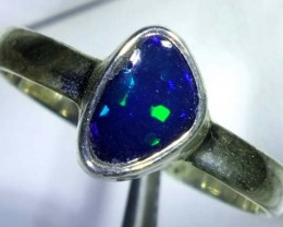 DOUBLET OPAL SILVER RING  9.8CTS   OF-765