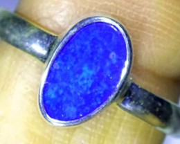 DOUBLET OPAL SILVER RING 10.4 CTS   OF-770