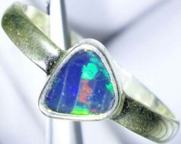 DOUBLET OPAL SILVER RING 10.1 CTS   OF-773