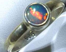 DOUBLET OPAL SILVER RING 9.35 CTS   OF-774