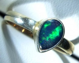 DOUBLET OPAL SILVER RING 10 CTS   OF-779