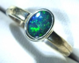 DOUBLET OPAL SILVER RING 9.9 CTS   OF-780