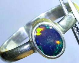 DOUBLET OPAL SILVER RING 9.9 CTS   OF-786