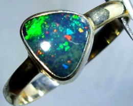 DOUBLET OPAL SILVER RING 11.3 CTS   OF-788
