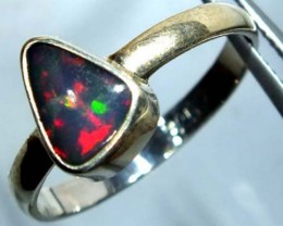 DOUBLET OPAL SILVER RING 10.6 CTS   OF-791