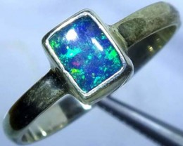 DOUBLET OPAL SILVER RING 10.2 CTS   OF-793