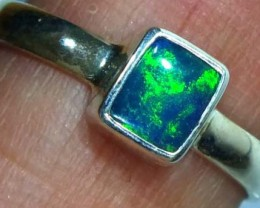 DOUBLET OPAL SILVER RING 9.45 CTS   OF-796